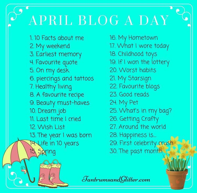 April Blog A Day #2